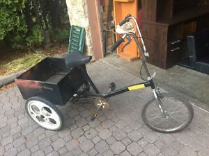 Retro Black Low Ride Bike With Metal Box Welded On