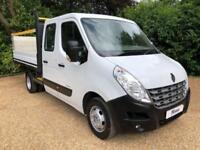 2012 62 RENAULT MASTER 35 2.3 DCI 150 DOUBLE CAB DROPSIDE * TWIN REAR WHEELS * D