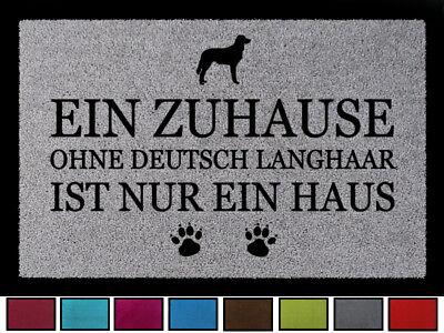 FUSSMATTE Türvorleger EIN ZUHAUSE OHNE [ DEUTSCH LANGHAAR ] Hund Viele