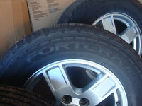 Goodyear Fortera HL tire and wheel set for Grand Cherokee
