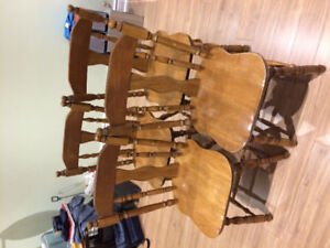 4 chairs -solid wood