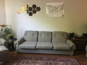 3 Piece Sofa / Couch, 2 Armchairs and Ottoman