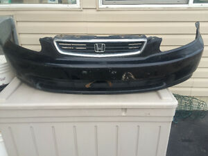 1996 1997 1998 Honda Civic Front Bumper cover with Grille