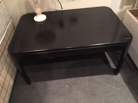 Lovely solid wood black coffee table