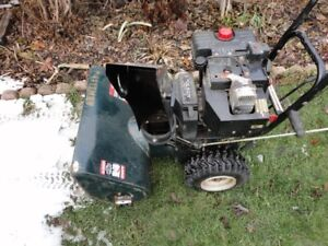 24 inch Craftsman snowblower with electric starter