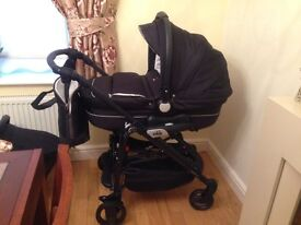 Minu Sport Cam Travel System Navy (carrycot/pram, pushchair and car seat)