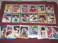 Over 50 Philadelphia Flyers cards from 1970s and 1980s