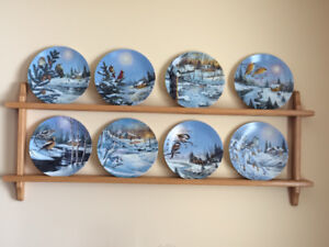 Wings of Winter-Bradford Exchange collector plates