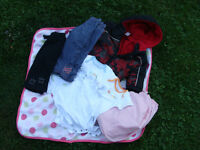 one price for assorted 12 mth clothes and crib sheet great shape