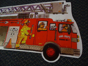 LARGE***FIRE TRUCK****FLOOR Puzzle Kingston Kingston Area image 2