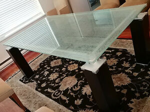 Crackled Glass Dining Table