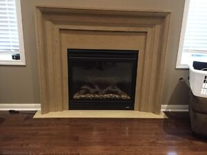 Stone fireplace manyle Cambridge Kitchener Area image 1