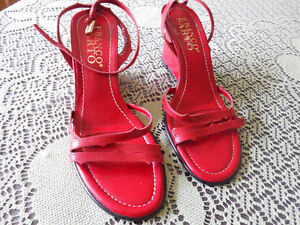 FRANCO SARTO Women's Shoes Size US 6.5 RED NEW Leather