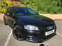 2010 AUDI A3 2.0TDI SPORTBACK BLACK EDITION S LINE SPECIAL EDITION 5DR FSH