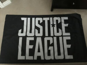 justice league flag 3 feet by 5 feet $10.00