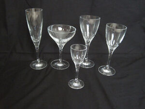 """Pas de Deux"" Zwiesel Crystal Ware Germany, for 12 pers. 60 pcs."