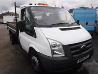 FORD TRANSIT 350 DRW TIPPER, White, Manual, Diesel, 2010