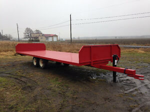 REMORQUE TRAILER PLATE FORME AGRICOLE 24'x8'