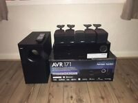 Harman Kardon AVR171 also with 5 Bose satellite speakers and subwoofer