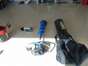 power ice auger and under water camera