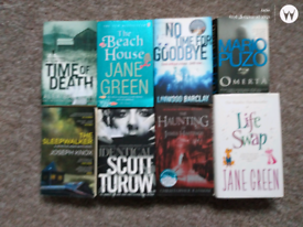 Various books.