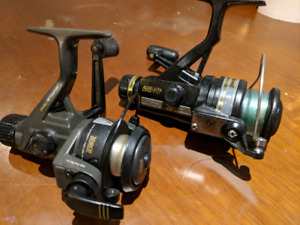 Two modern fishing reels. Spinning