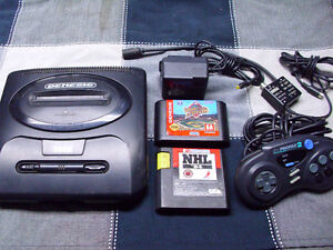 Sega Genesis Model 2 With 2 Games