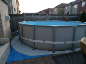 Intex pool  16x48, 5 feet deep.
