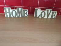Home and love signs