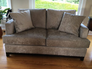 Van Gogh - James Sofa & Loveseat - Burnaby Grey - NEW