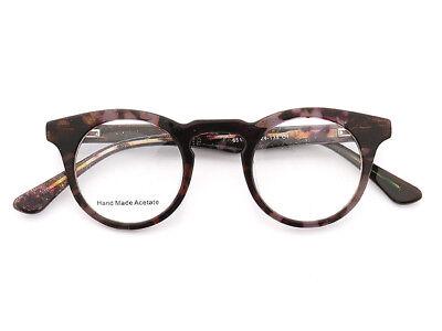 Mens Womens Eyeglass Frames Round Rx Vintage Retro Acetate Stylish Spring (Stylish Mens Frames)