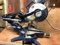 Macallister 1400w compound sliding mitre chop saw