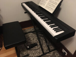 Yamaha P-45 Digital Piano + Stand + Bench + Sustain Pedal
