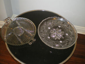 Two glass serving dishes.