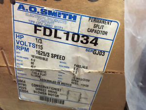 Direct Drive Blower Motor - 1/3 HP A.O Smith  – FDL 1034