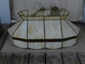 Stained Glass 2 light ceiling fixture
