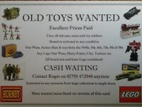 Wanted Old Toys Trains, Diecast Cars, Soldiers, Lego, 1970s, 80s Toys Etc
