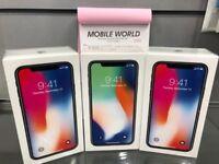 iPhone X 64gb sealed pack black 12 month apple waranty