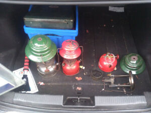 free to a good home lot of assorted Coleman lantern parts