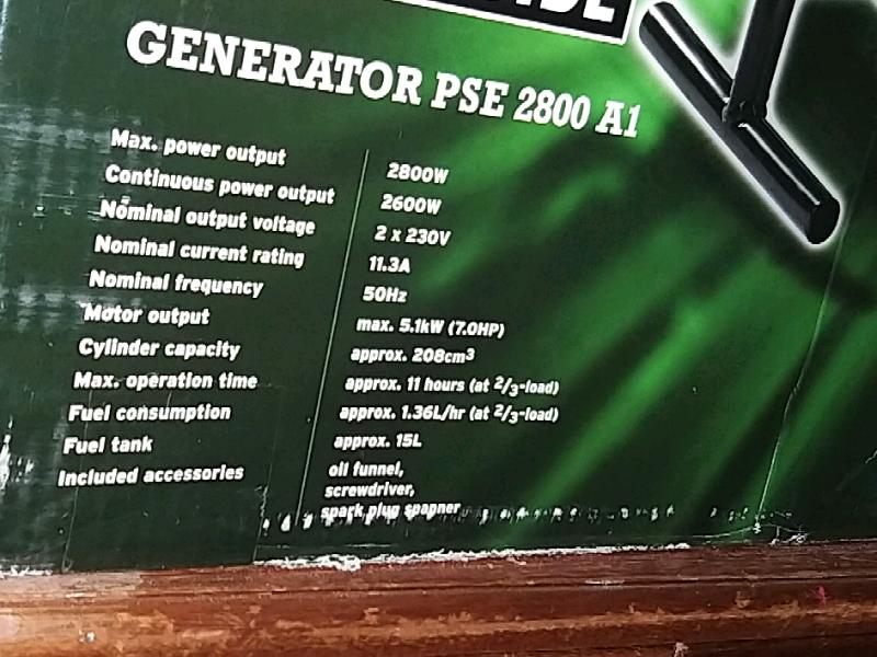 Generator PSE 2800 AI | in Liberton, Edinburgh | Gumtree