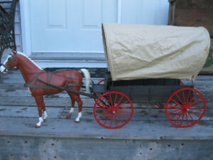 Johnny West Horse and Wagon