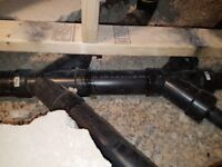 PLUMBING ROUGH IN BASEMENT WASHROOM BY CODE UNCLOGGED DRAIN