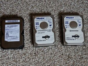 VARIOUS HARD DRIVES - ALL FRESHLY FORMATTED