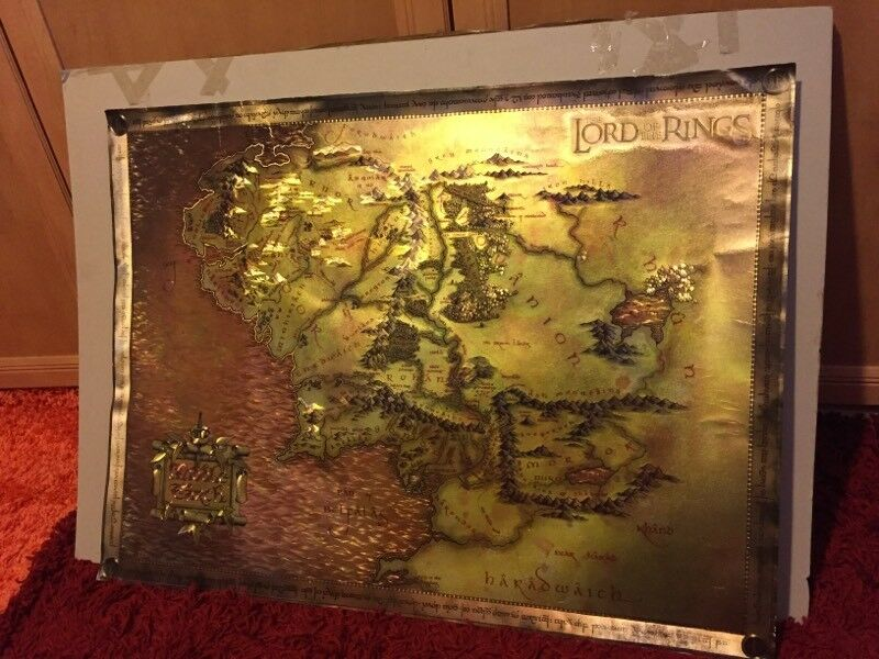Lord of the Rings Map of Middle Earth Collectors Print 80x60cm   in ...