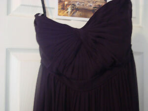 Jenny Yoo floor length plum dress size 10(altered to size 8)