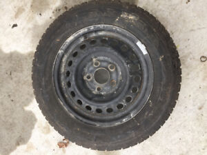 195 65 R15 snow tires and rims for sale