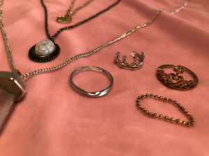 Some cute necklaces and rings (all together for $10)