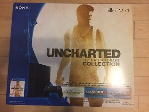 Like New hardly used PlayStation 4 with extra remote and 4 Games
