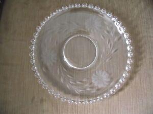 "Cornflower 10"" Glass Plate"