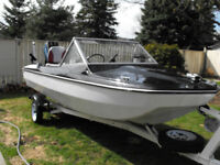 Completely Restored 15 Tri- Hull with 50 HP Force & elec troller